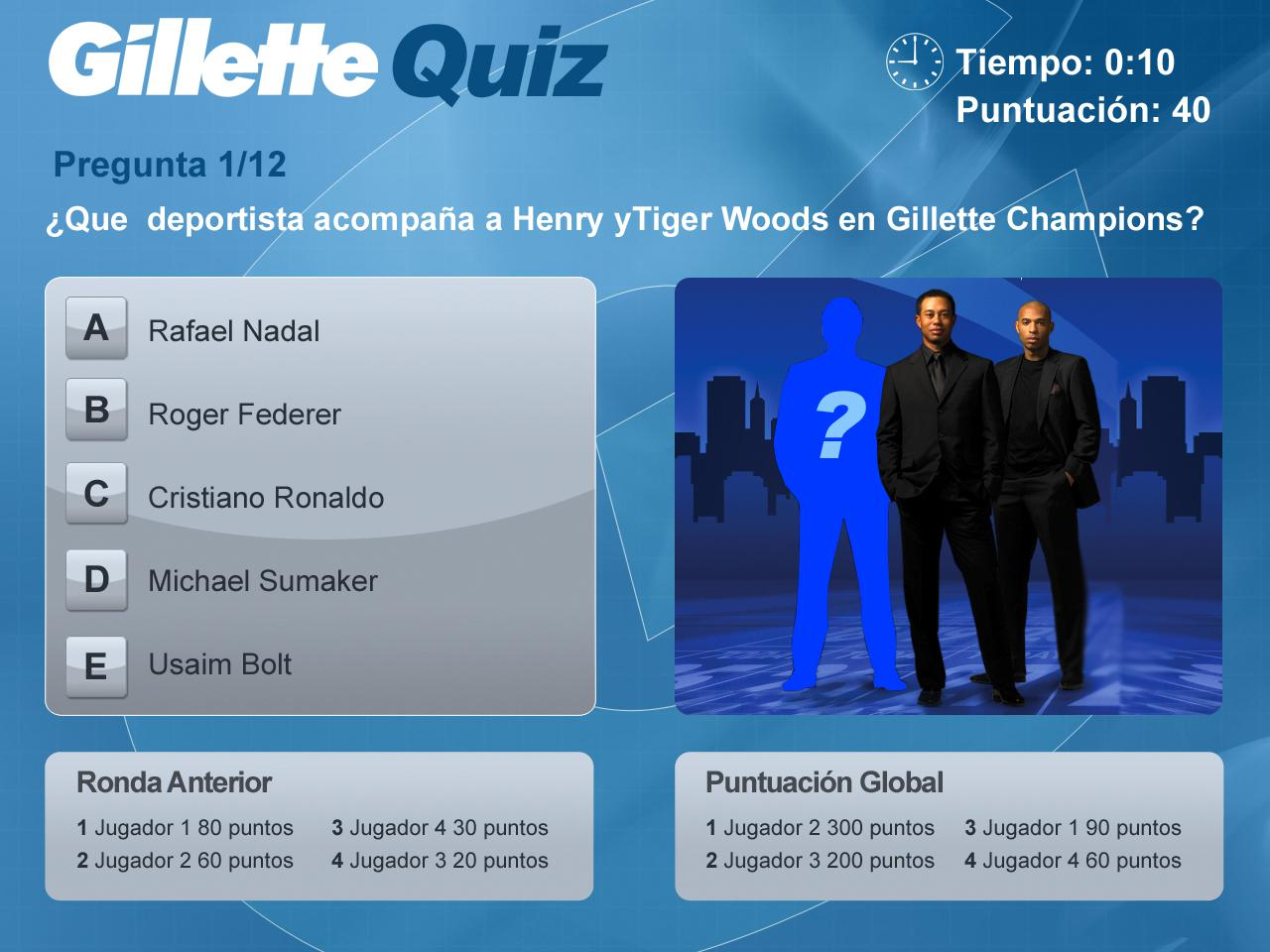 Gillette Quiz Game